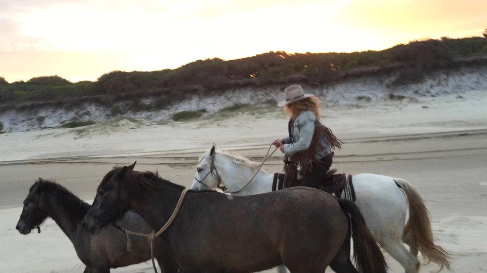 Terry horse riding