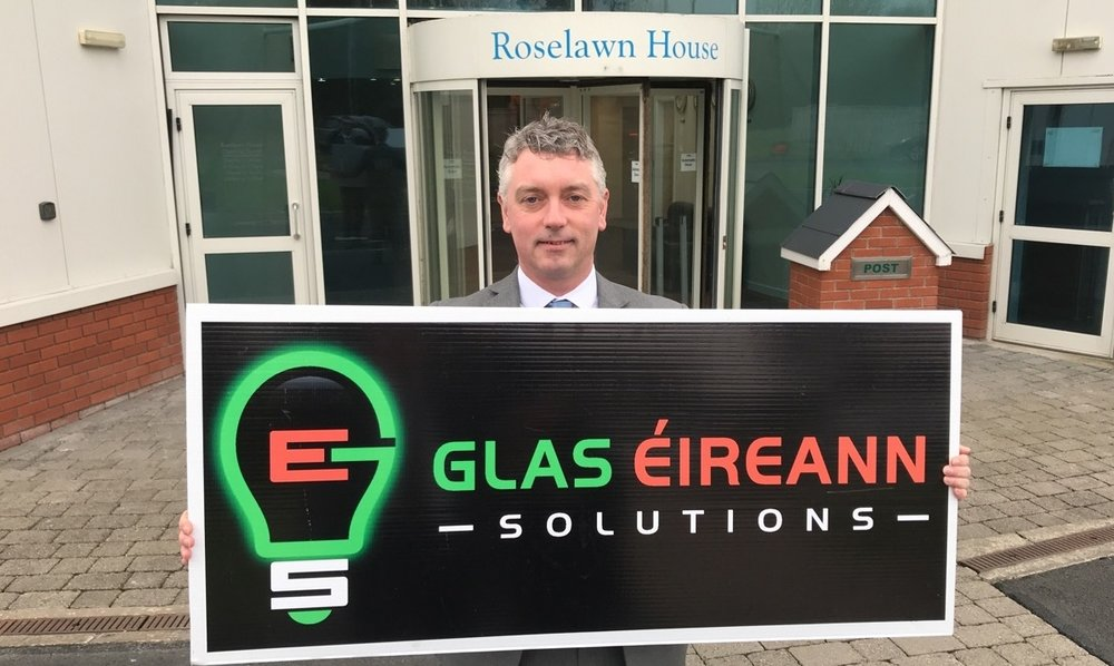 The new VP Sales for GES Roger Leyden, pictured outside the offices at Roselawn House.