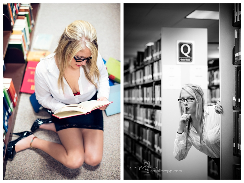 naughty librarian bad teacher styled session