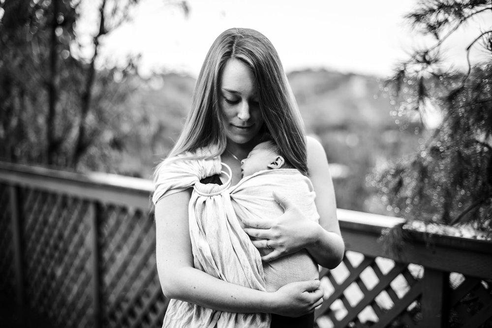 pensacola baby wearing, sakura bloom ring sling, baby wearing photographer, pensacola newborn photographer