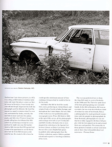 - Read about William Gedney in DoubleTake Magazine, Fall, 1996