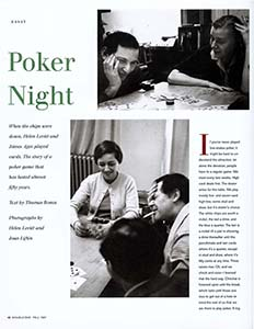 - Read about Poker Night with Helen Levitt in DoubleTake Magazine, Spring, 1997