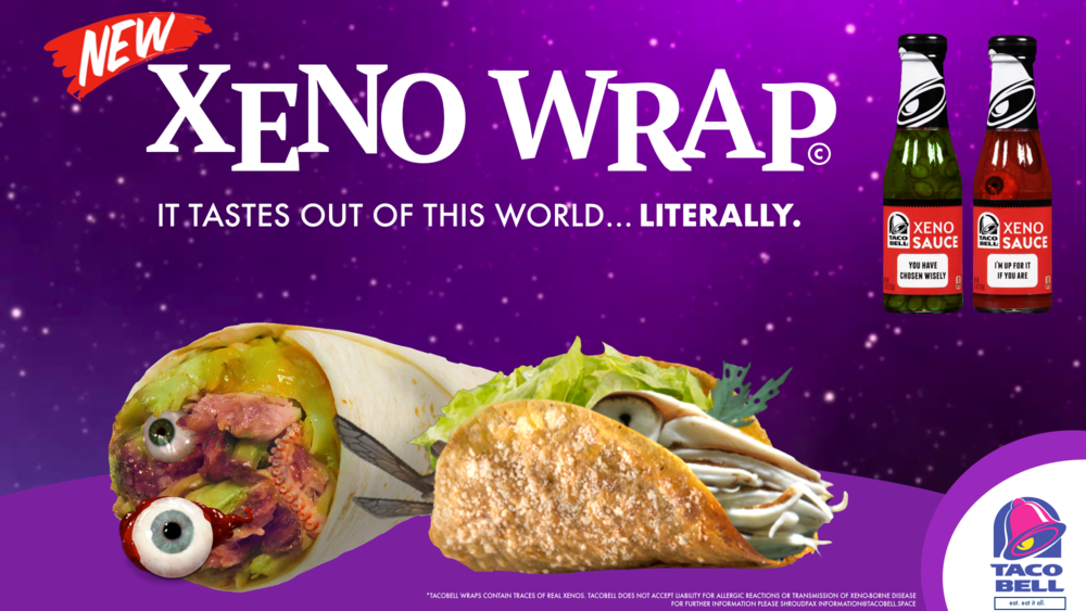 Image: Taco Bell's latest advertisement displaying the newest additions to its menu.