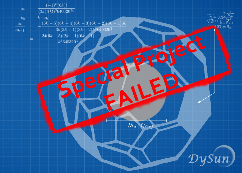 Image: The new DySun sphere is nowhere near producing enough credits to repay the company's debts.