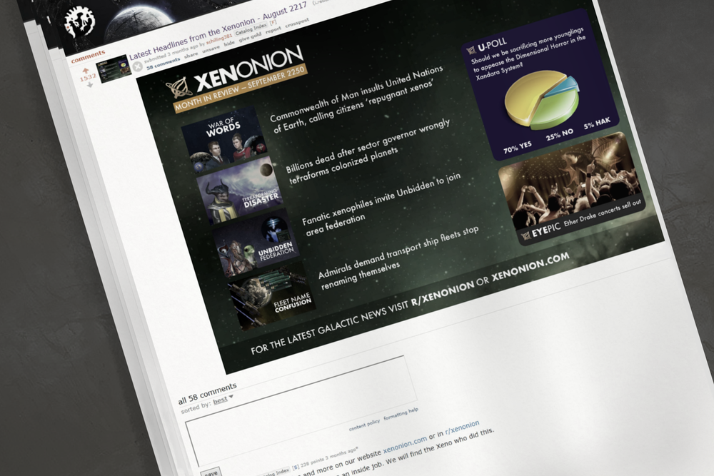 Image: Last year the Xenonion made a non-accidental attempt to publish advertisements dated with both time systems. It was not well received.