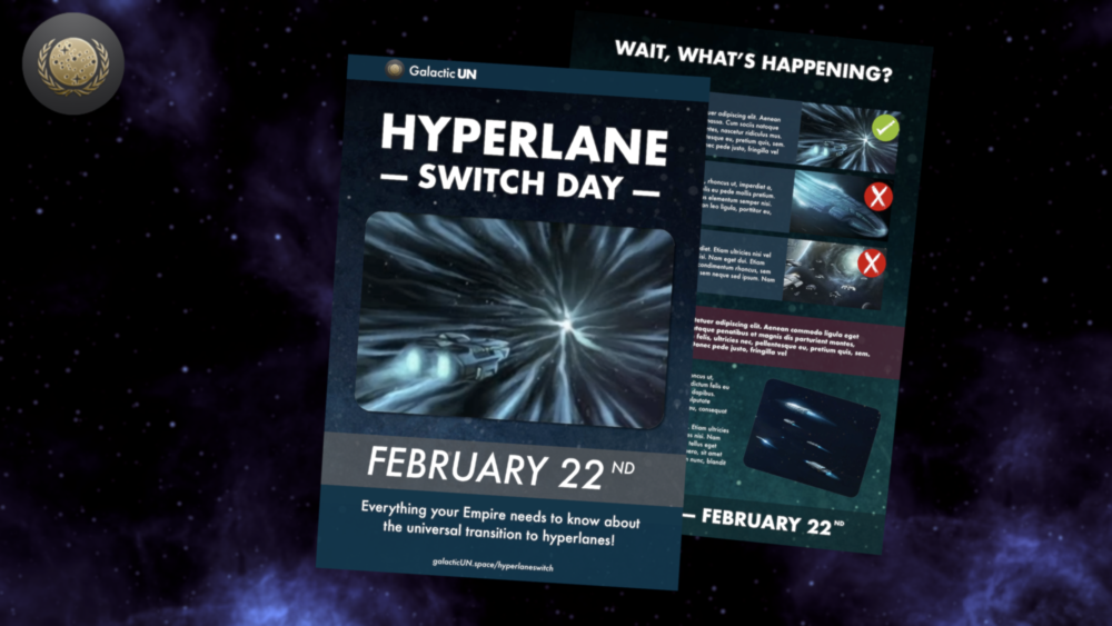 Image: The Galactic UN has begun distributing leaflets in preparation for the universal switch to hyperlanes.