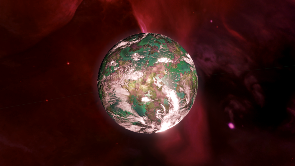 Image: The beautiful gaia world of Prophet's Retreat in the Acrux System has long been regarded as a Holy World by the Vool Crusaders, even though the planet does not lie within their borders.
