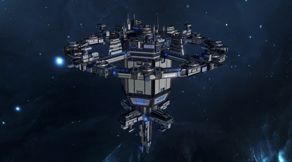 Image: The 1st Fleet had been docked at the new Arcturus Starbase, home to all UNE forward naval operations.
