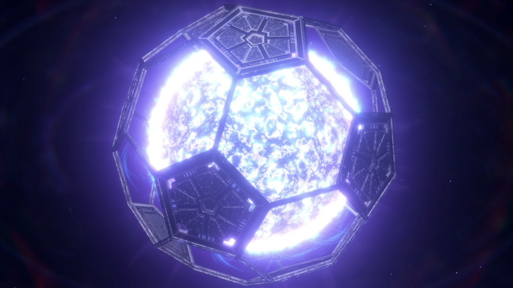 Image: A partially completed Deus Volt-sponsored Dyson Sphere.