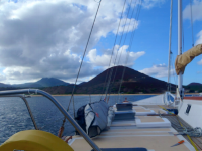 The view of Ascension Island from the yacht I was working on