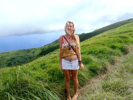 Barefoot hiking in Green Mountain National Park