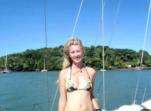 Sailing gives you access to remote locations. Here I am infront of Devil's Island off the coast of French Guyana