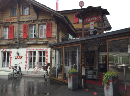 The infamous Balmer's Hostel in Interlaken, Switzerland