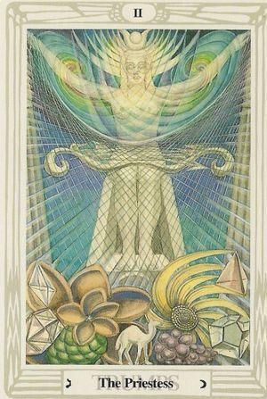 Atu II from the Crowley-Harris Thoth Tarot