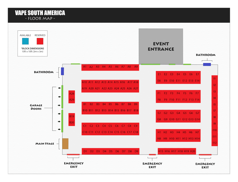 Vape South America Booth Map