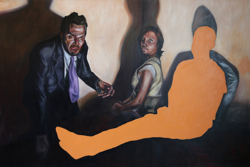 """Sleep Device - Oil on canvas - 2015 - 92"""" x 62"""""""
