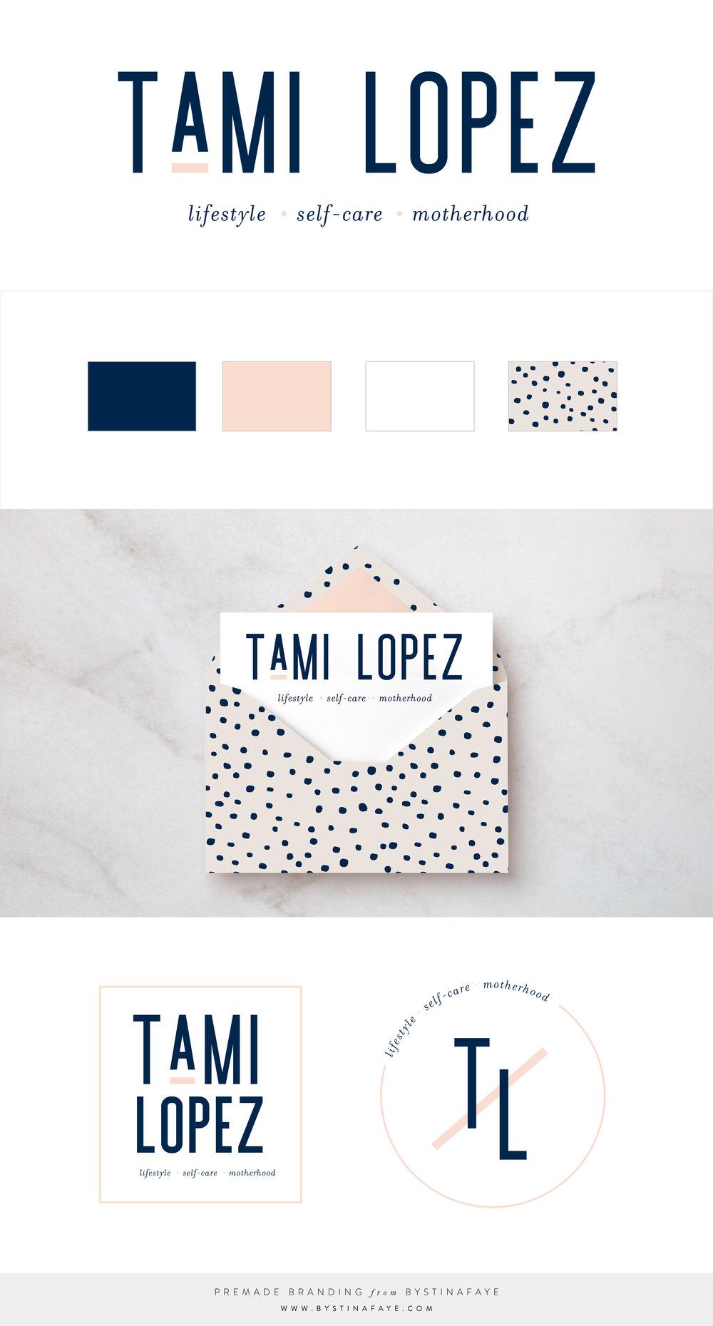 Tami Lopez | Premade Logo | Branding via www.bystinafaye.com