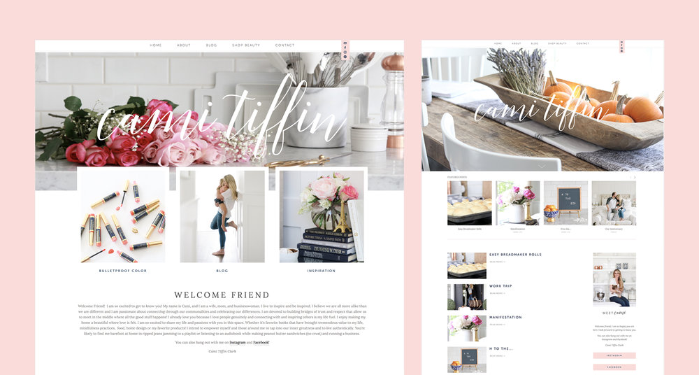 Cami Tiffin Blog Design