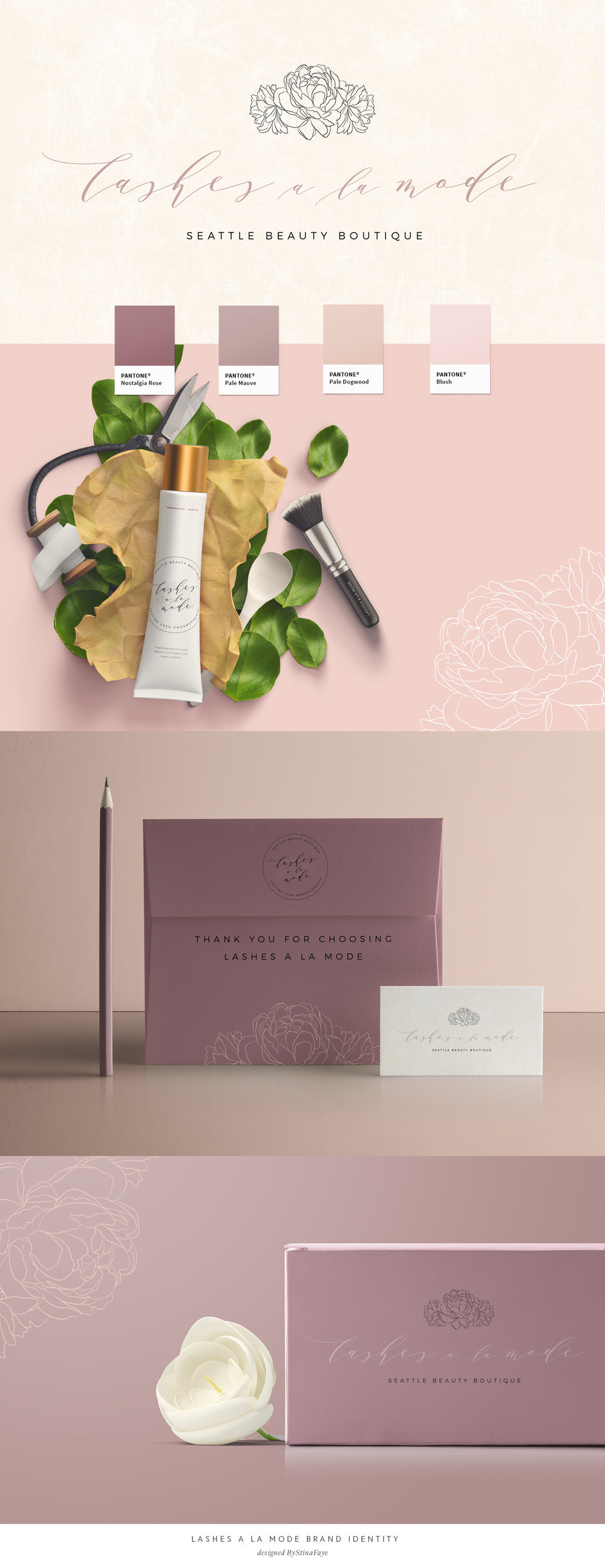 Lashes A La Mode Brand & Web Design