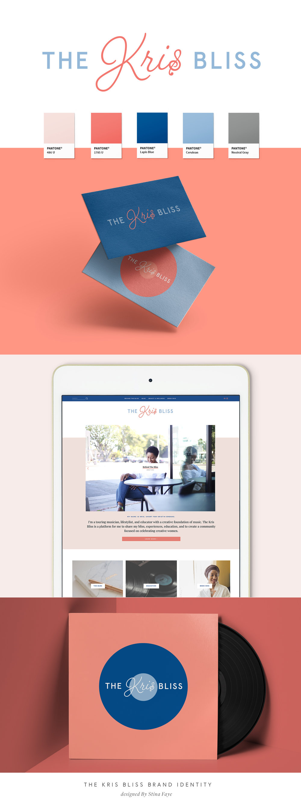 The Kris Bliss Lifestyle Brand + Squarespace Blog Design