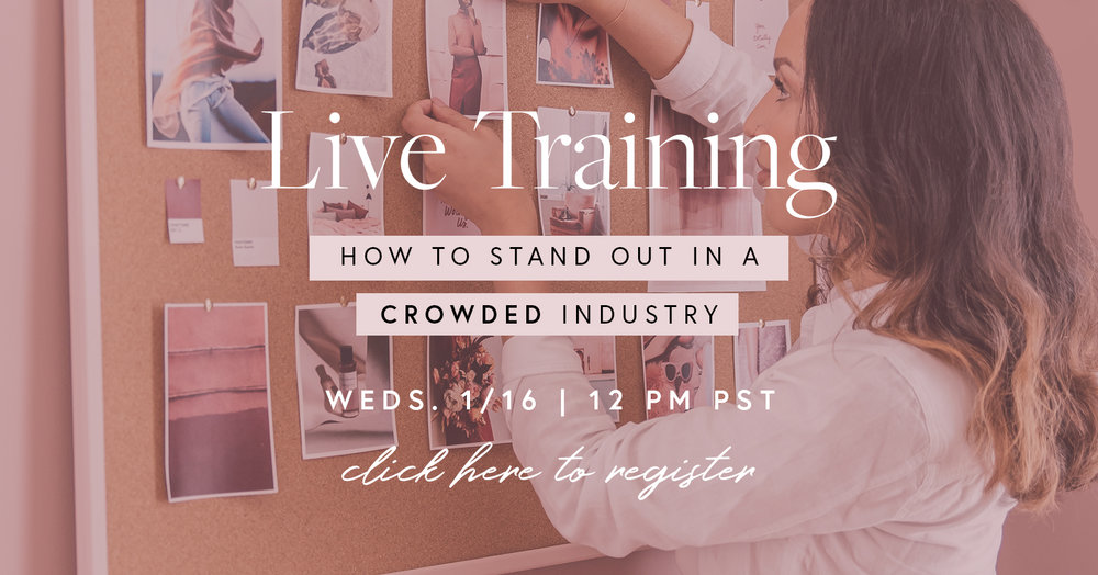 Live Training: How To Stand Out in A Crowded Industry