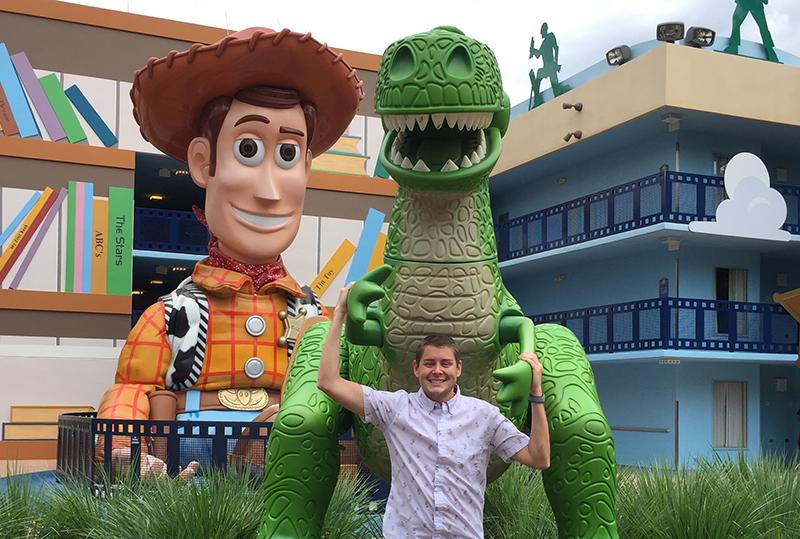 Me at Disney at Toy Story land