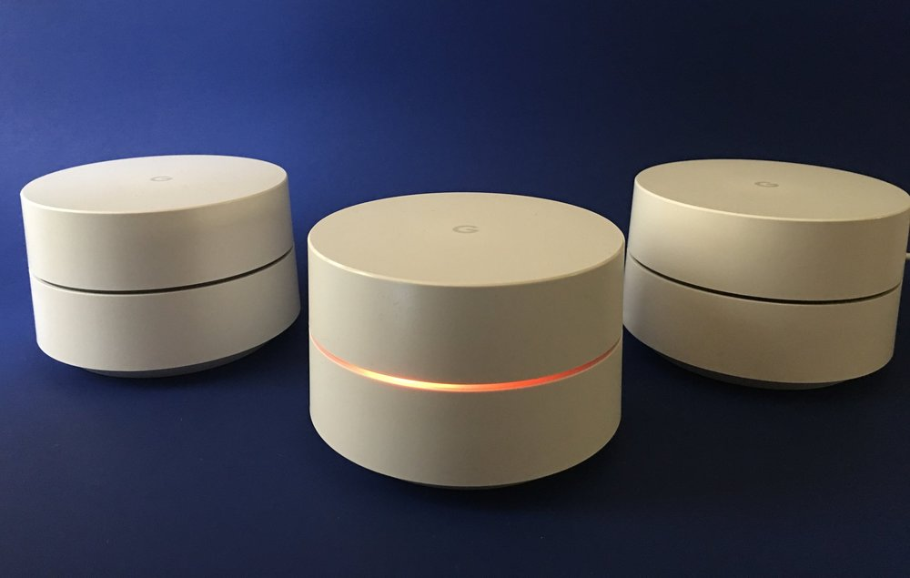 Google Wifi looks great and has a low profile that fits almost anywhere.