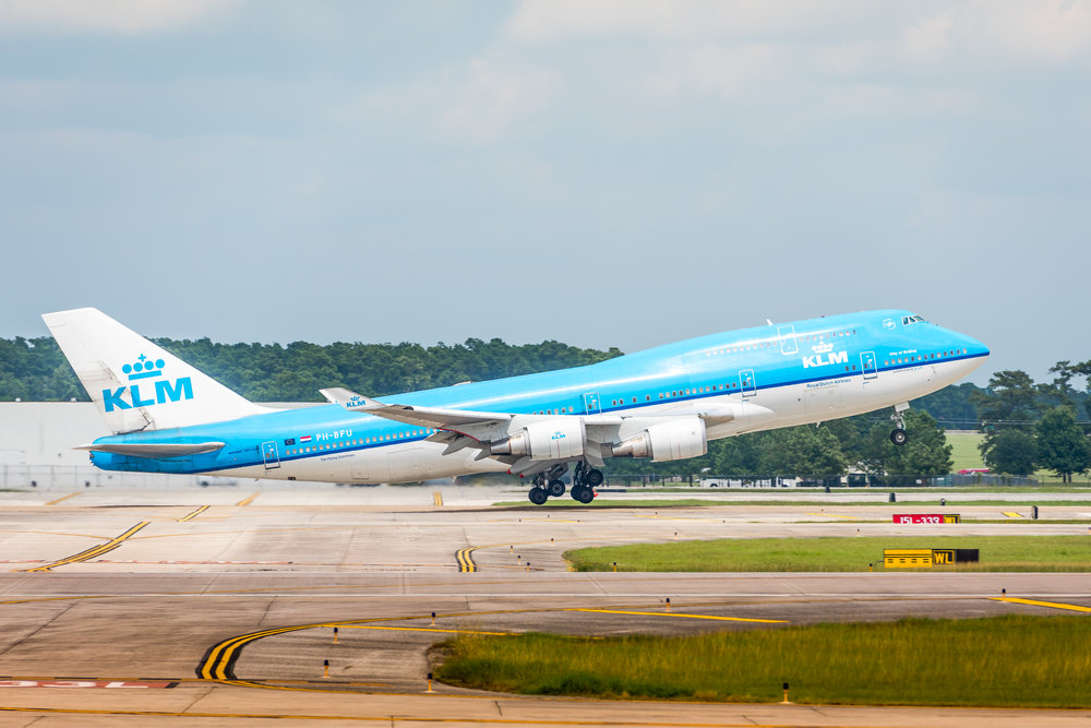 'Queen of the Skies' KLM 747-400 heading for Schipol Airport in Amsterdam