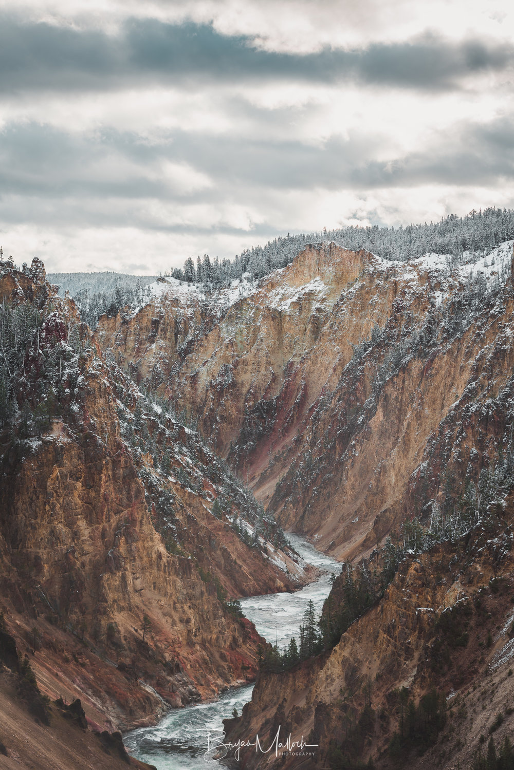 Millions of years to carve this canyon, a few moments to stop and enjoy it before succumbing to the cold.