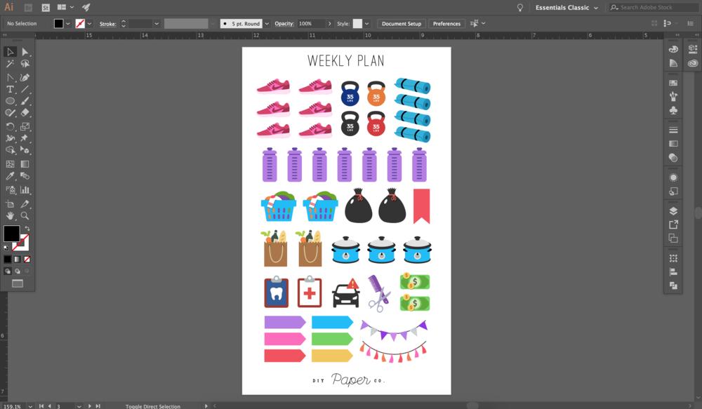 Step 1. Design the stickers in Illustrator