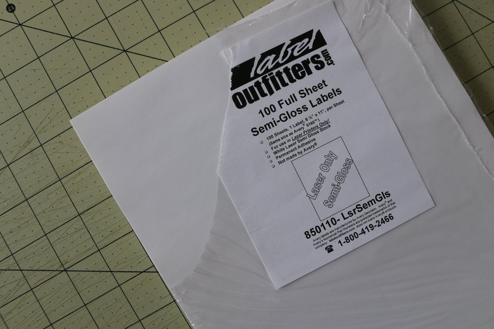 Step 2. Print designs on sticker paper