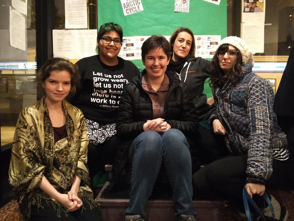 Alexandra Ranieri, Denise Yvette Serna, Iris Sowlat, Carolina Migli-Bateson, and Olivia Lilley