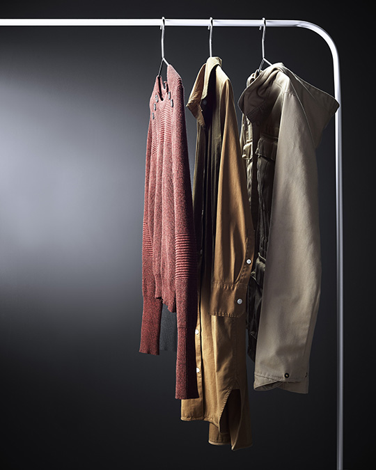 Savannah.styling.hanging_clothes.brown.mustard.khaki.jpg