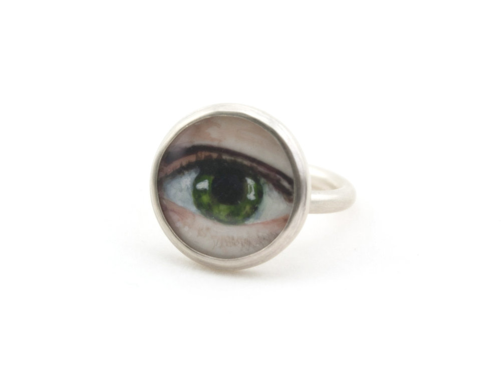 Lover's Eye Ring Green