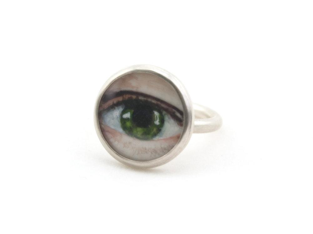 Lover's Eye Ring Green
