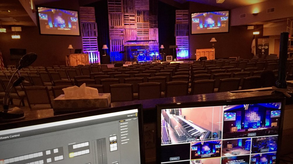Shiloh Community Church - Phoenix, AZ     (  BMD ATEM 1M/E Switcher, Studio 4K Camera, Studio Micro Cameras, Marshall CV502 Cameras)