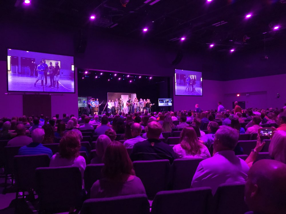 RGBW LED houselights create a dynamic worship environment!