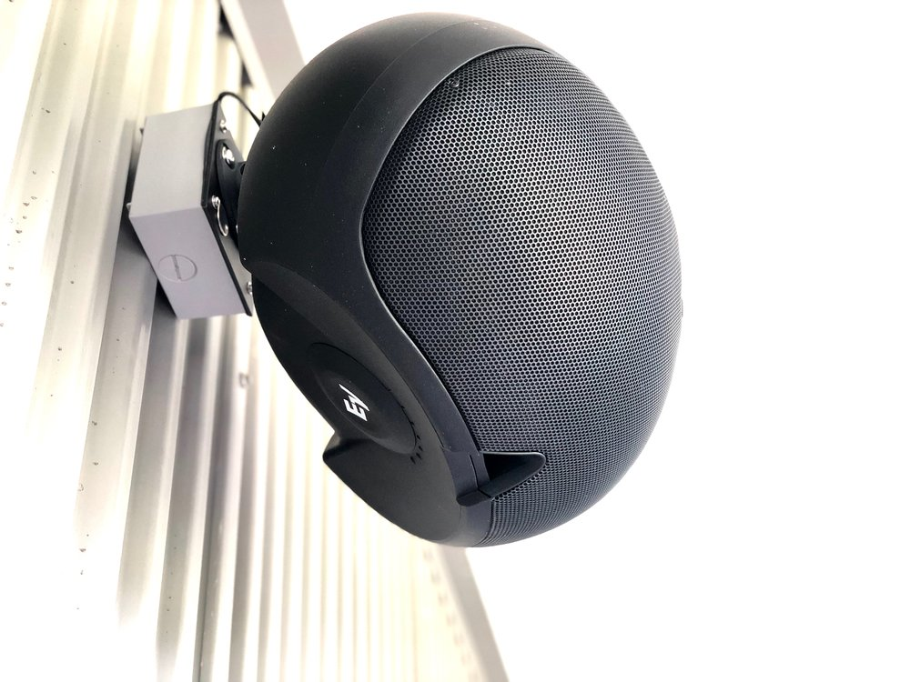 Exterior 70V speaker system throughout the facility.