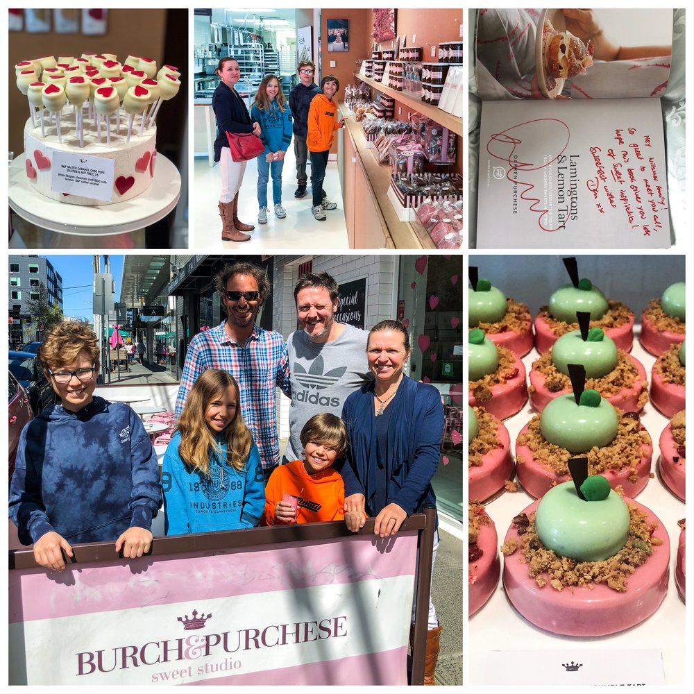 Our family with Darren Purchese at 'Burch & Purchese', South Yarra, Melbourne, and some of the amazing delicacies on offer