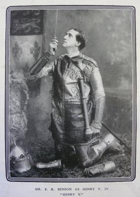 Frank Benson as Henry V, 1900