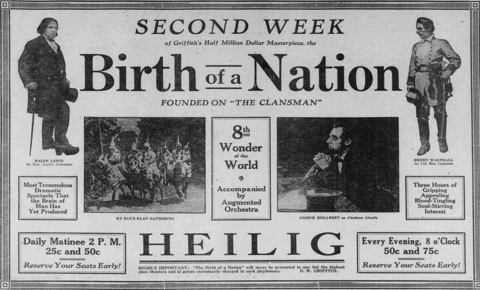 birth of a nation ad