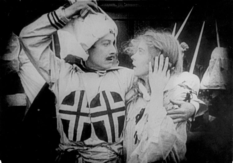 "Henry Walthall and Lillian Gish in ""The Birth of a Nation"""