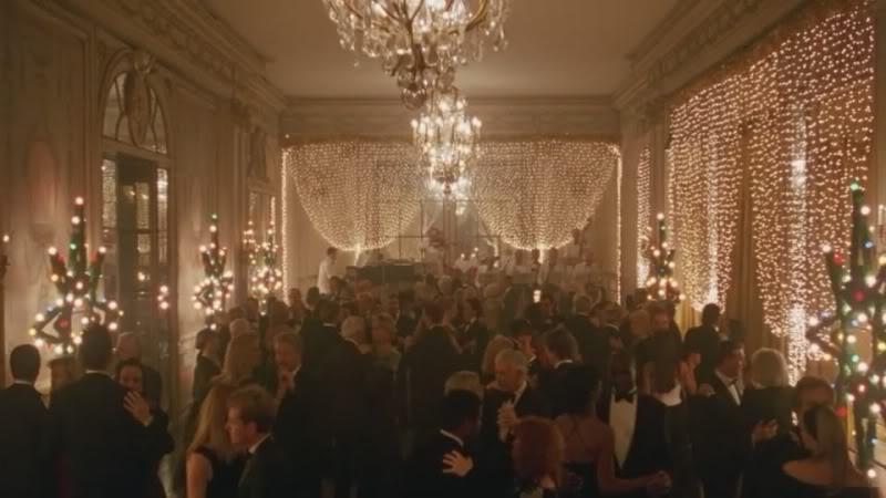 From Eyes Wide Shut. The Christmas lights make the ballroom glitter like The Gold Room from The Shining.