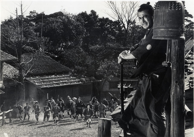 Akira Kurosawa's Yojimbo. Made in 1961 and set in 1870.