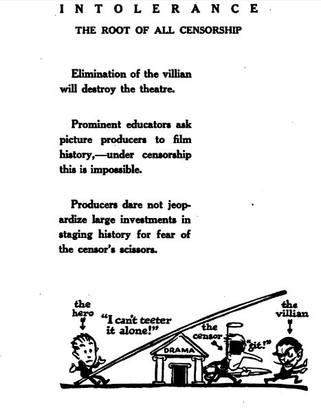 "Page from ""The Rise and Fall of Free Speech in America,"" by D.W. Griffith"