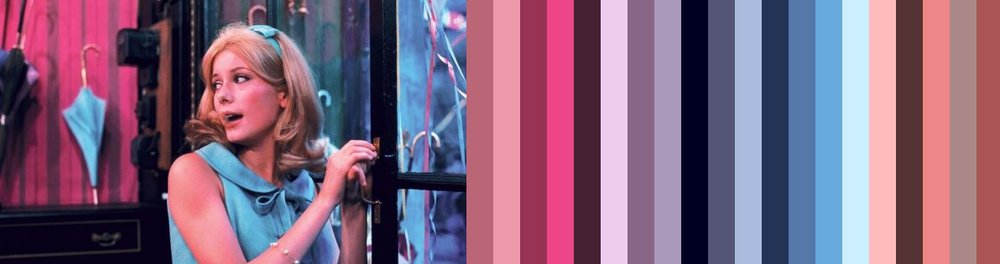 Color Palette from a shot of Catherine Deneuve in The Umbrellas of Cherbourg