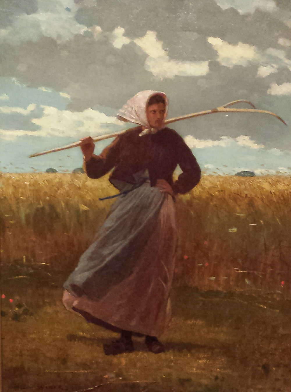 Winslow Homer's The Return of the Gleaner, on display at the Crystal Bridges Museum of American Art in Bentonville, Arkansas.