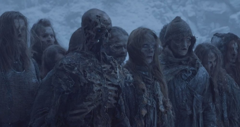 The Army of the Dead in  Game of Thrones