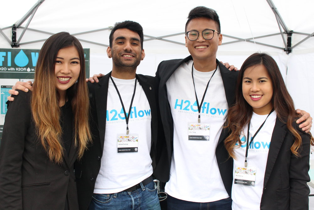 The H2oFlow team at the Paseo Prototyping Festival 2017.