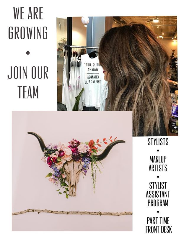 ‼️❤️ WE ARE HIRING ❤️‼️ JOIN OUR BEAUTIFUL SALON FAMILY• AMAZING WORK ENVIRONMENT • Stylists must have room for walk ins • WEDDING STYLISTS are a huge plus • stylist assistant must have current CA Cosmo license • Front Desk is part time and must be available evenings and weekends • PLEASE NO PHONE CALLS • . . . . . #slosalon #slostylist #slohair #slohairstylist #shareslo #slo